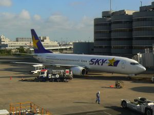今回乗った飛行機(スカイマークのボーイング737)