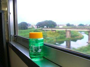 鉄道旅行での一杯