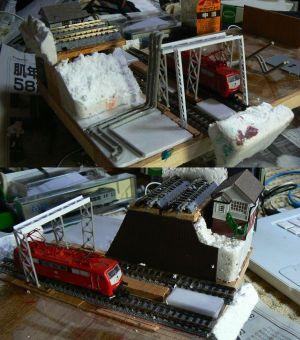 アメリカ風鉄道模型モジュール