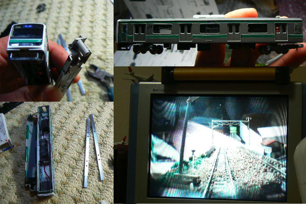 E501系(209系)の模型にカメラを組み込みました