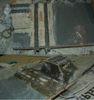 レイアウトモジュール・地面の工作