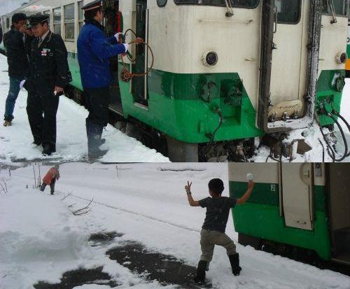 会津川口駅での一コマ