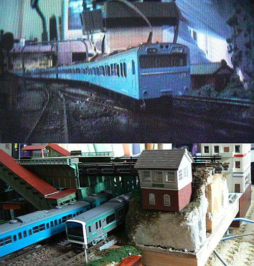カメラカーから見た京浜東北線の模型