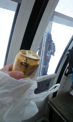 雪山でもやっぱり乾杯