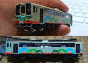 富士重工レールバス(真岡鉄道モオカ63)を作り上げました。