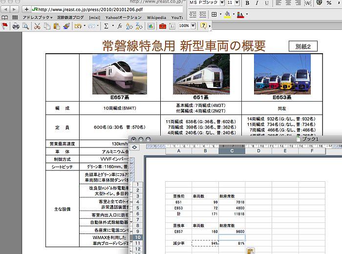 JR東日本プレスのスクリーンショットと計算したもの