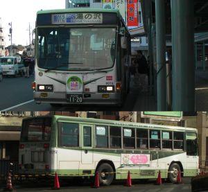 今日最終運行の、国際興業バス8074号(
