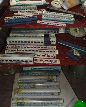 ドイツ風急行客車の整備