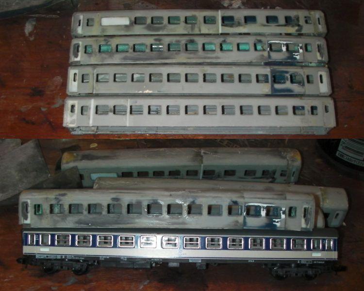 ドイツ型客車の加工