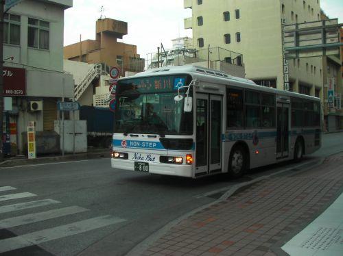 本土からの中古で入ったノンステップバス