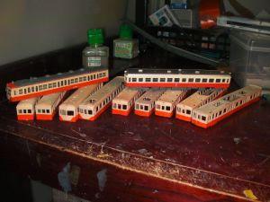 関東鉄道の模型の塗装