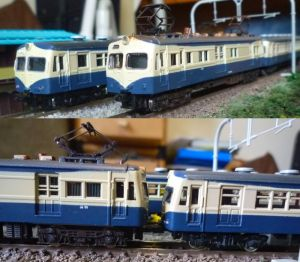 湘南電車と横須賀型電車