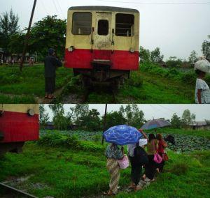 終点Ywathagyi駅にて