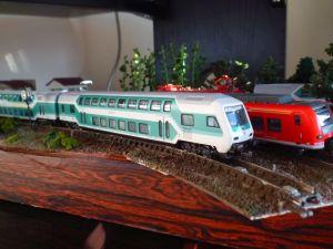 ドイツ鉄道の運転台付き2階建客車