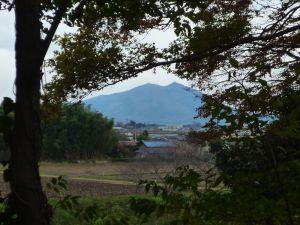 菩提寺からみる筑波山
