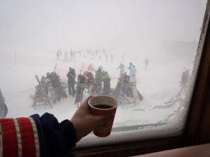 スキー断念