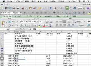 我が家の家計簿の一部晒します