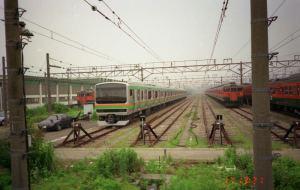 15年前の小山電車区
