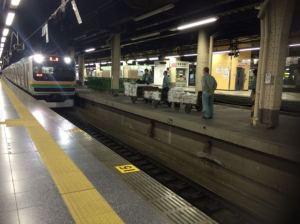 上野駅の新聞ん