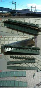下路式ガーター橋の模型の製作