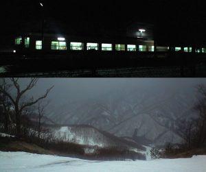 東武の夜行列車と会津高原高畑スキー場
