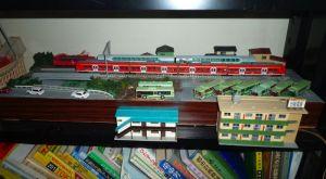 6年前の川モジュールをベースにバス車庫を作ります。